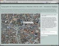 """Interaktiver Stadtplan """"Topographie des Nationalsozialismus in München"""""""